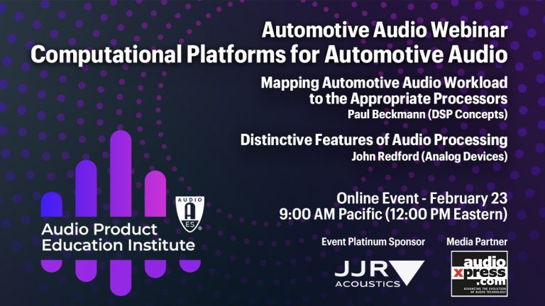 Computational Platforms for Automotive Audio Deterministic Audio Processing for Predictive Control